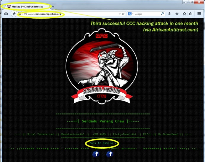 COMESA hack no3