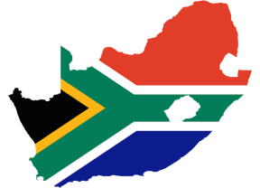 SA country flag outline